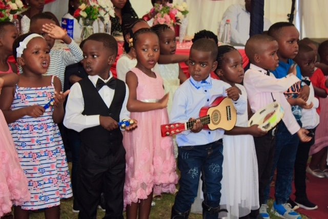 Children Performing at Graduation