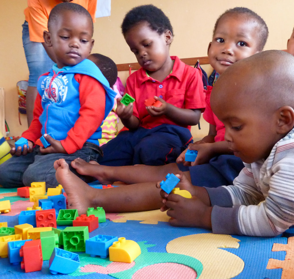 Playtime in one of our new classrooms
