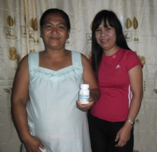 Cecille with pregnant woman in her care