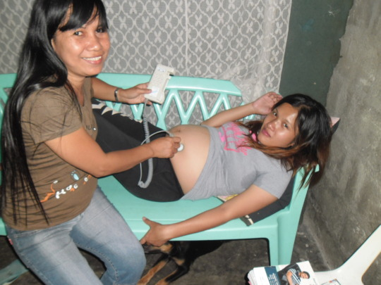 Temporary space to conduct prenatal exams