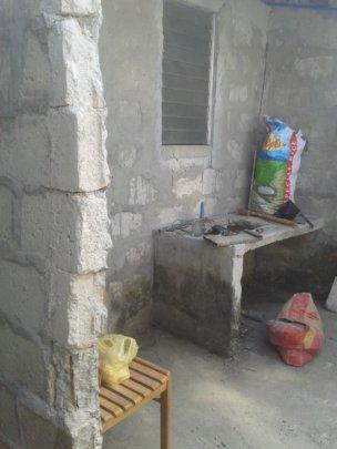 Kitchen area before photo