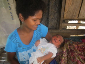 Mothers appreciate home visits from the midwives