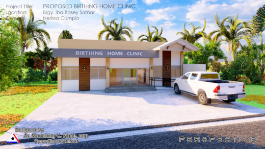 Architectural Drawing of Birth Center to construct