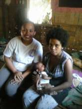 RoseAnn checking moms and babies in the community