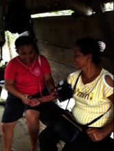 RoseAnn serving the women in her community