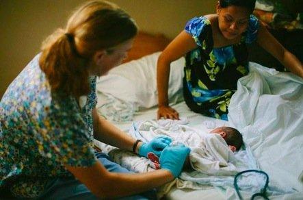 Newborn Exam after Birth
