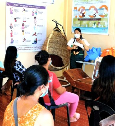 Safely teaching health classes at prenatal clinic