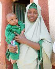 Nafissa and son, Abdoulahii, delivered with miso