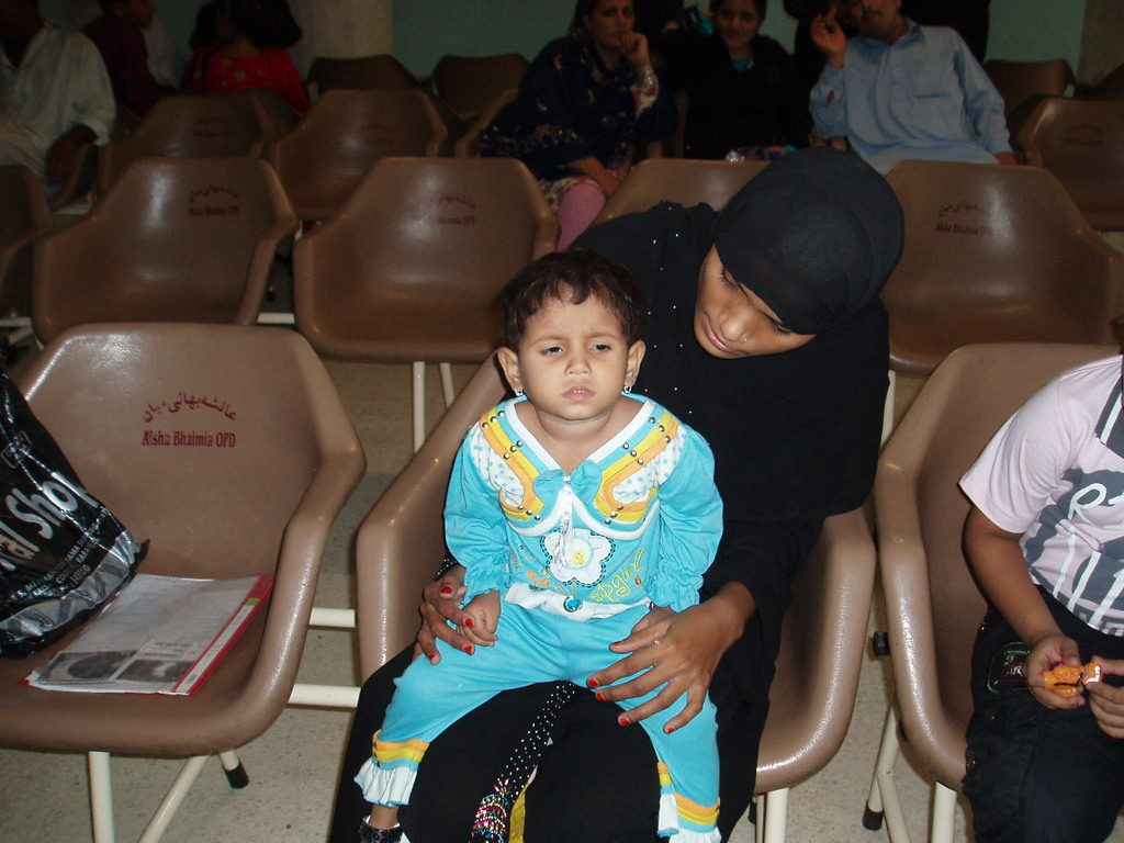 Baby Humna with her mother