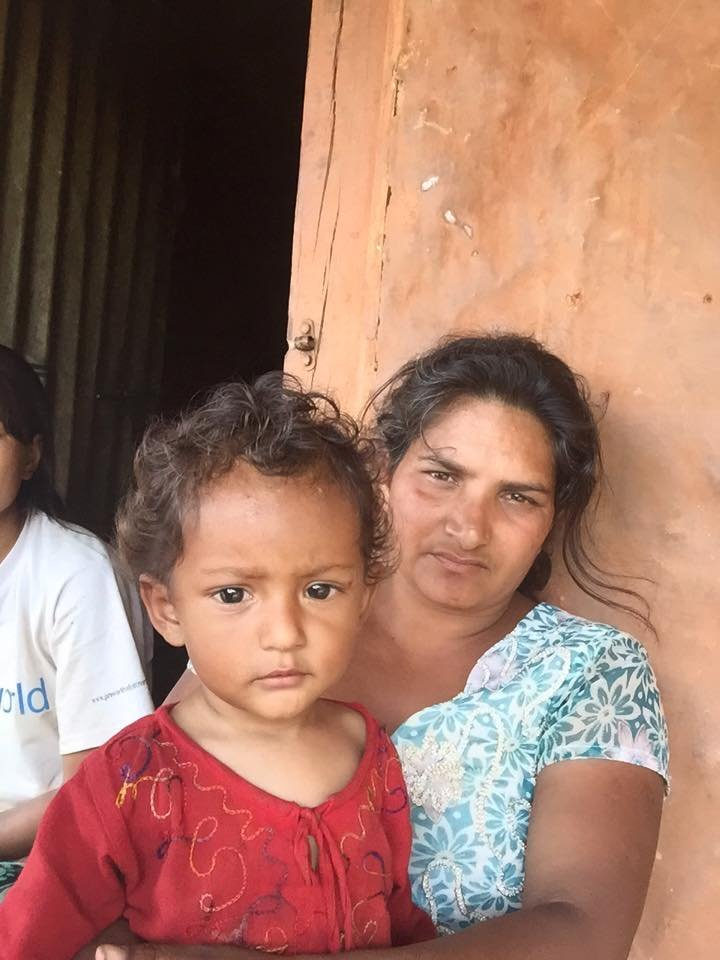 Minally and daughter Barsa
