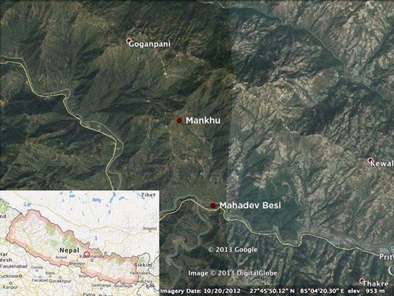 4.5 km road. Mahadavbesi to Mankhu