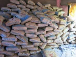 Cement stocked for Disaster Shelter Construction