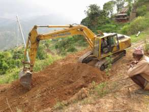 Work on the village road