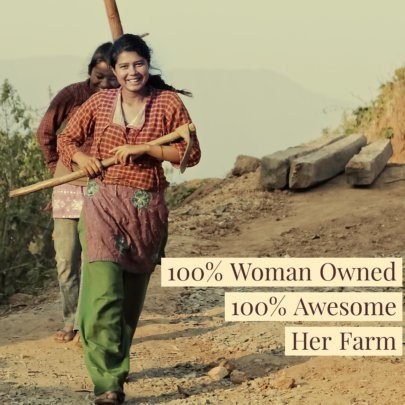 Her Farm. Women owned and operated