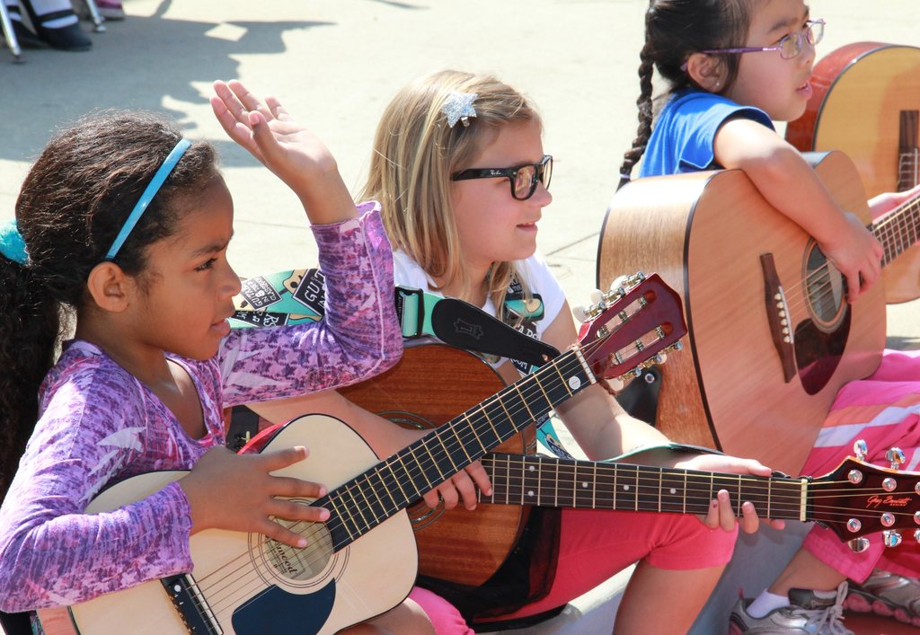 These girls are learning so much through music!