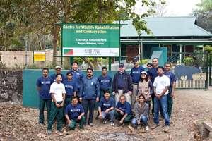 The IFAW-WTI rescue team at CWRC