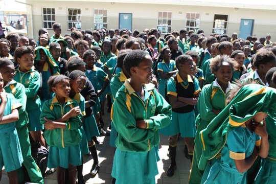Grade 5, 6, and 7 girls in Cradock South Africa
