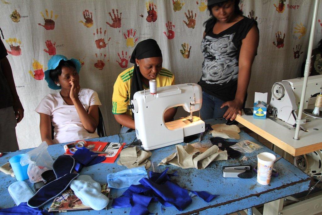 Learning to make menstrual kits GirlStuff.Period