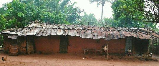 A widows' dilapidated house