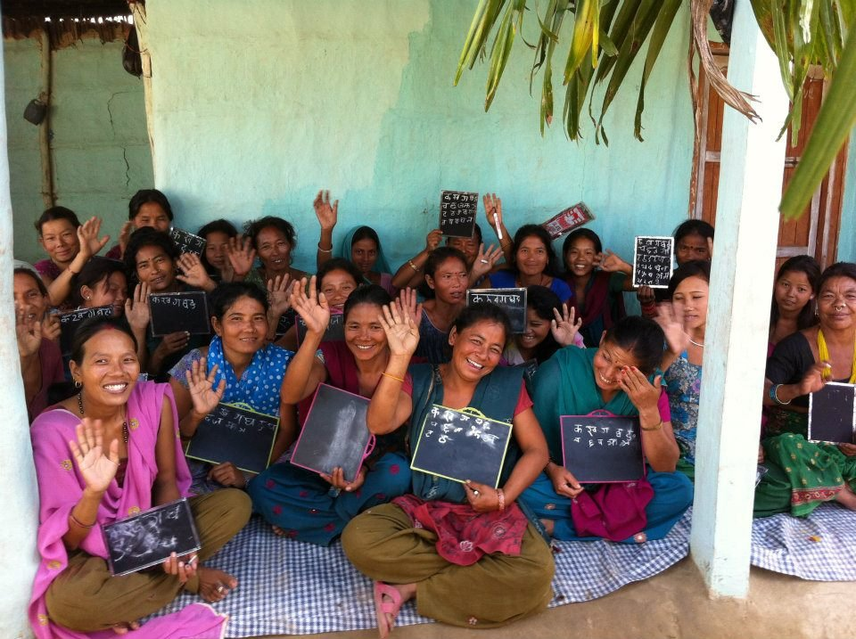 One of the sessions of the Women Literacy Classes