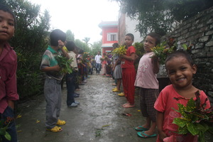 Welcoming children at the Children's Center