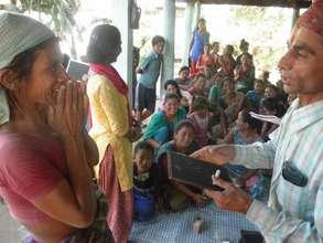Women's literacy class in Giraeet, Sarlahi.