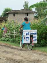 Mobile library volunteer