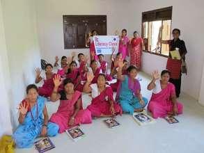 Women's literacy class in Mahottari, Nepal.