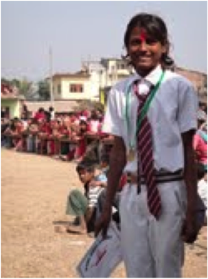One of the Orphans from the Happy Home Orphanage