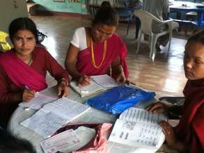 Women's literacy class in Janakinagar, Nepal.