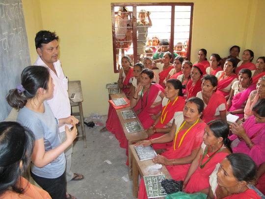 Women's literacy class