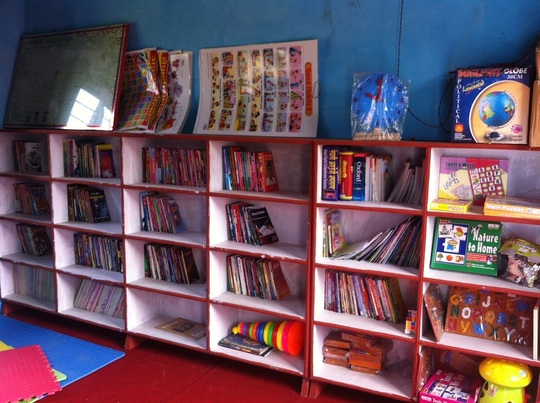 Books & toys at the mini-library