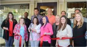Ribbon cutting for Brush & Canvas, Sept. 2015