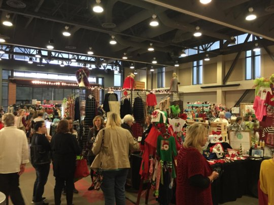 Shoppers at the 5th annual Mistletoe Market
