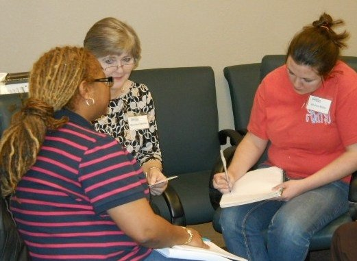 Group discussion in Operation Jump Start class