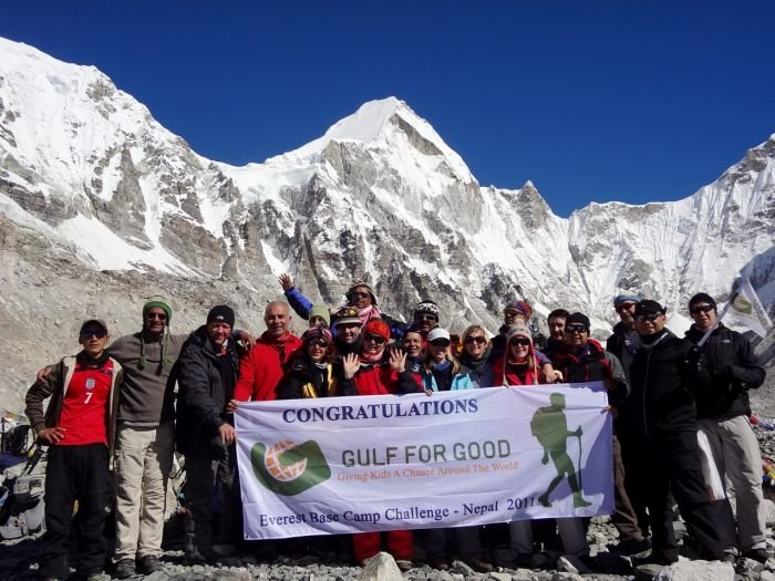 G4G challengers at Everest Base Camp