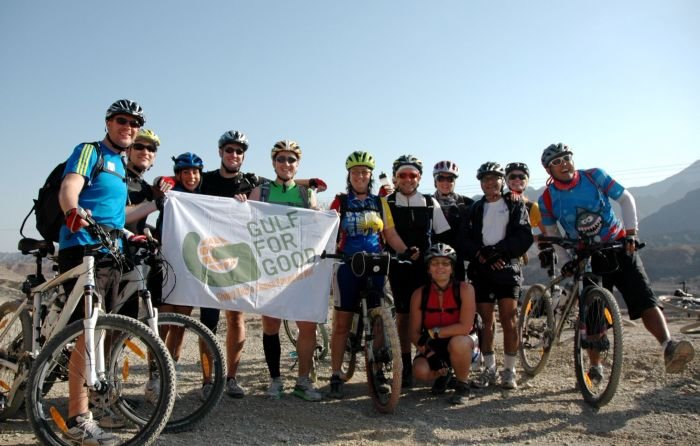 Challengers cycling the 7 Emirates