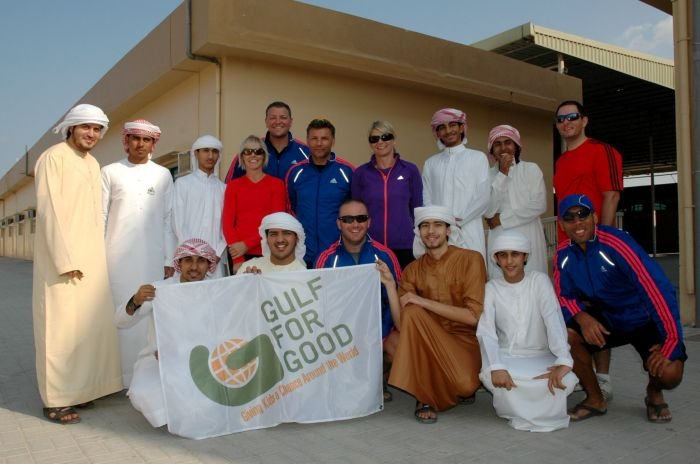 Challengers with Al Manar School students