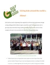Gulf for Good Project Report (PDF)