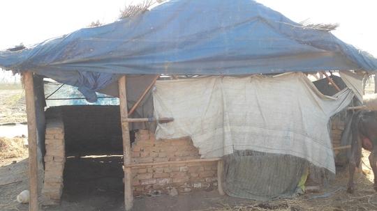 Damaged house at village pir Juman Shah Jelani