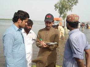 AHD team during vist in Flood affectee areas of