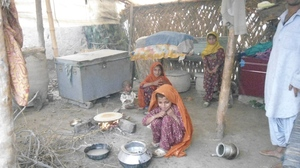Girl sitting at thier kitchen village Badlo ban