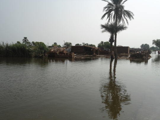 Hundreds of villages submerged in Flood water
