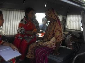 Women treated by AHD health team