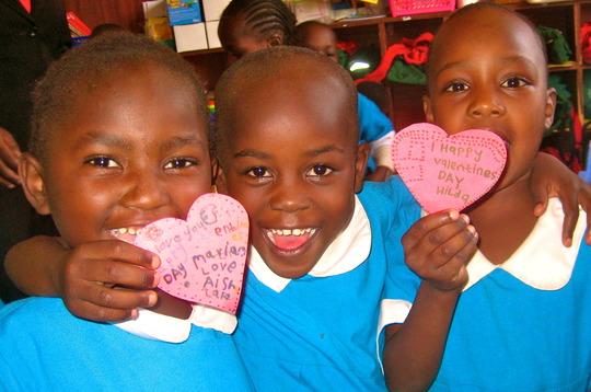 Kibera School for Girls celebrates Valentine's Day