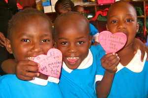 Kibera School for Girls celebrates Valentine's Day