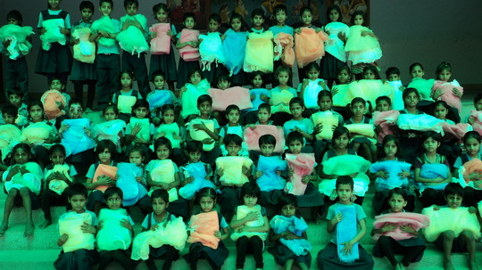 Mosquito Net Distribution at the School.