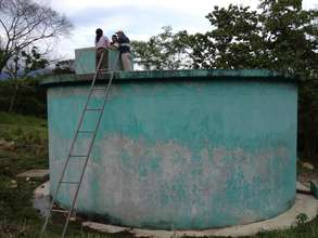 Water tank in Honduras