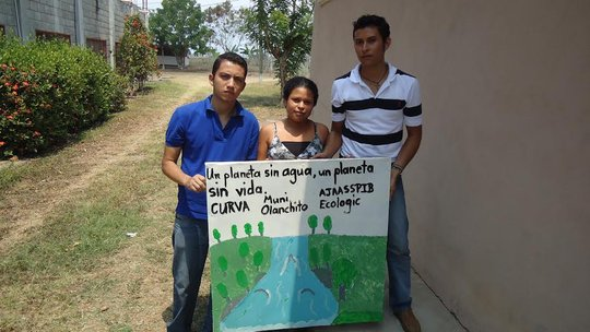 Youth of Olanchito promoting water conservation