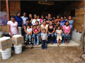Pastores women receiving their filters and stoves!